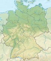 Reliefkarte Deutschland mit Flüssen