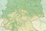 Reliefkarte Deutschland mit Flüssen - Thumbnail