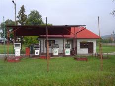 Tankstelle in Betrieb